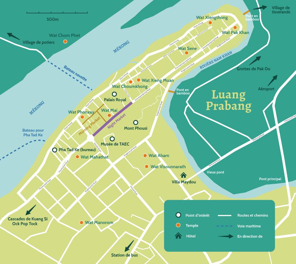 Carte de Luang Prabang