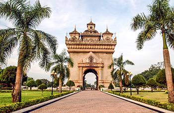 Patuxay à Vientiane