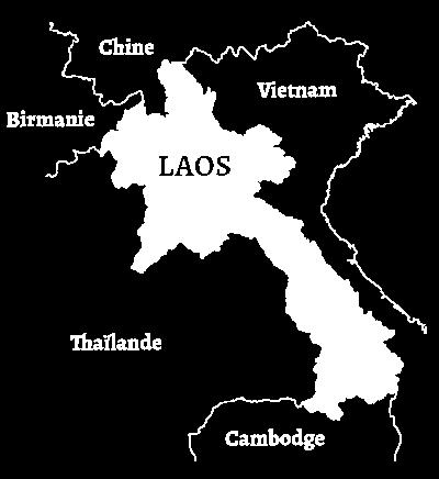 Carte du Laos- Vietnam Thailande Cambodge Birmanie Chine