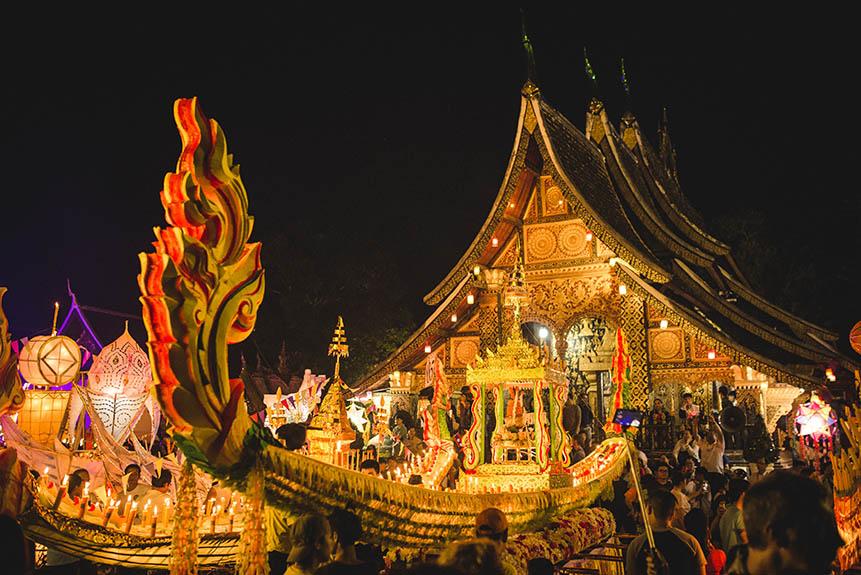 La Fête des Lumières Lai Heua Fai à Luang Prabang