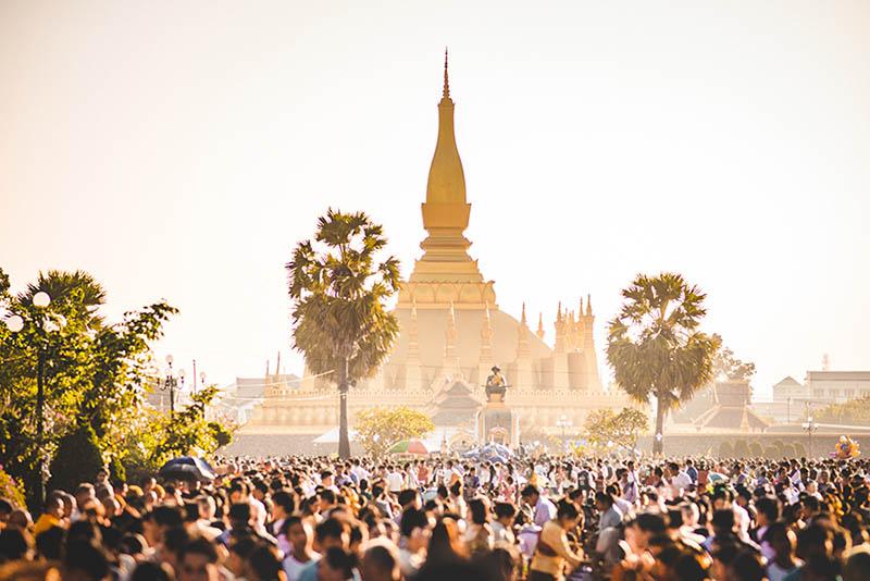 That Luang Festival à Vientiane