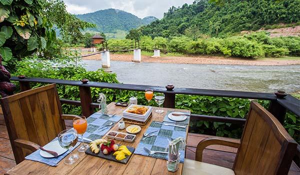 Muang La Lodge petit déjeuner