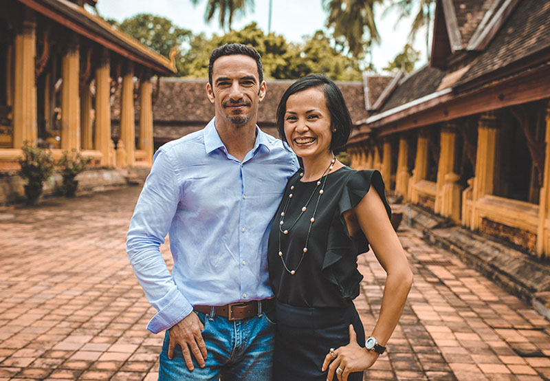 Les fondateurs d'Asia Safari Laos