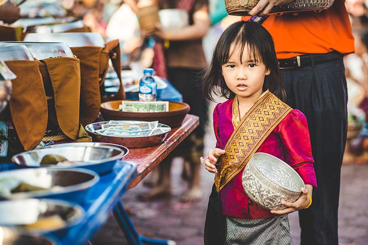 That Luang Festival, les offrandes